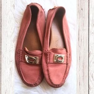 Coach Napolean Moc Flats Slip On Loafers Pink Sz 8